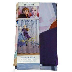 Frozen 2 Shower Curtain 72x72 Fabric Anna Elsa
